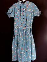 VERY RARE DEADSTOCK 1950'S GIRLS COTTON  DRESS SIZE 7-8