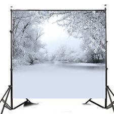 10x10ft Snow Tree Christmas Winter Photography Background Photo Studio Backdrop