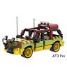 Lego Jurassic Park Jeep Vehicle Build Custom Model 473 Pcs Gift For Kids