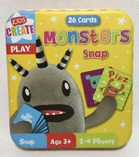 Monster Snap Cards in Tin - Children's Monsters Matching Pairs Game Play Kids