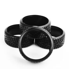4X62mm Flat Racing Tires PP On-Road Tyres Set For HPI HSP RC 1/10 Drift Car
