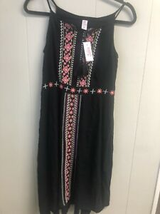 Justice Dress Size 10 Plus Black NWT