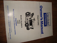Cub Cadet Lawn Tractor 1615 1620 Owners Manual