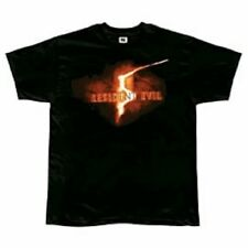 Resident EVIL 5 Logo Black T shirt-Small