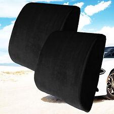 Back Support Cushion Pillow Memory Foam Lumbar Office Home Chair Car Seat 2 pcs