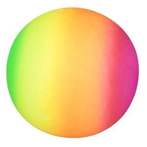 9'' Rainbow Ball Neon Coloured Ball Rubber Beach Sports Football 20cm Sport