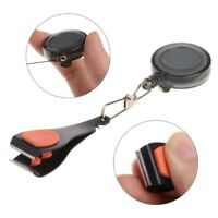 Fly Fishing Steel Line Nail Nipper Clipper Pin On Reel w/ Retractable Waist Clip