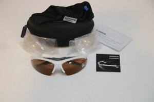 New Shimano CE-EQX2 Polarized White Gray Cycling Sunglasses