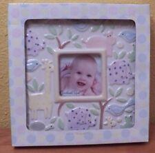 Grasslands Road Ceramic Photo Frame for Baby Pastels Animals Nib