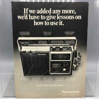 Vintage Magazine Ad Print Design Advertising Panasonic RF-1060 Portable Radio