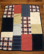 CIRCO CRIB QUILT / Preowned / Great Conditions Red Blue Tan Checkered COMFY BABY