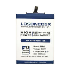 LOSONCOER 4900mAh BM47 Battery For Xiaomi Redmi 4X Battery 3S 3 pro 5.0 inch