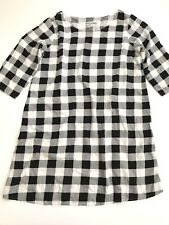 American Apparel Dress Size M / L Womens Checkered Gingham Mini Shift Dress