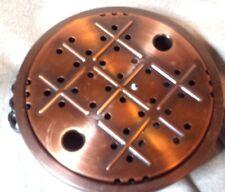 PIASTRA Di Rame più caldi, vintage, probabilmente francese, 18 cm di diametro.