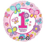 Sweet Birthday Girl Standard Foil Balloons Baby 1st Party Decorations