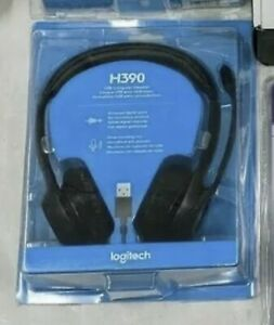 Logitech H390 Over-Head Comfort USB Headset - Conference Teams Zoom * NEW