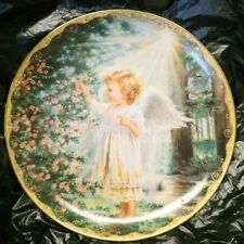 "Angel Plate Bradford Exc. Garden Blessings ""An Angel'S Touch"" Numbered"