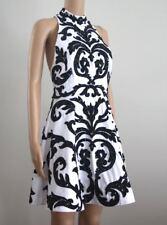 Alice + Olivia White Black Sequin Short Party Prom Full Skirt Skater Dress S 2