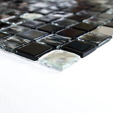 selbstklebend Mosaik Kombi. Gals schwarz SAM 4CM26 Matte 300x300x5mm