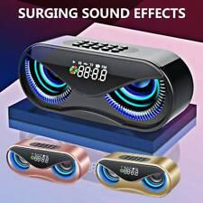 Bluetooth Speaker LED Wireless FM Radio Alarm Clock For iPhone Samsung iPad Sony