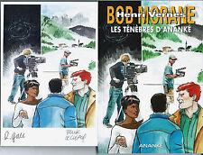 EO BOB MORANE HC N° 56 + RÉMY GALLART + EX LIBRIS SIGNÉ : LES TÉNÈBRES D'ANANKÉ