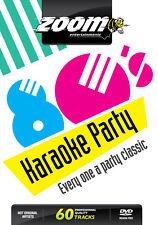 Zoom Karaoke Eighties 80's Karaoke Party DVD - 60 tracks on 2 DVDs