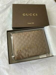 Gucci Men's Dark Brown Leather GG MicroGuccissima Bifold Wallet  278596