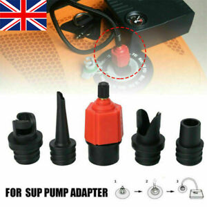 4 Nozzle SUP Pump Adapter for Inflatable Boat Air Valve Adaptor Hose Connector