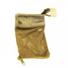 Tactical 223 Zipperd AR Brass Shell Catcher Mesh Bag Picatinny Weaver Rail Tan