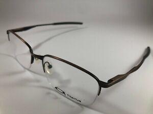 New Oakley Wingfold 0.5 Eyeglasses OX 5101 0455 Satin Titanium Toast