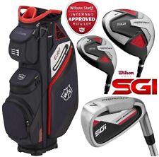 Wilson Prostaff SGI Mens Steel LEFT HAND Golf Club Set & Exo 2020 Cart Bag