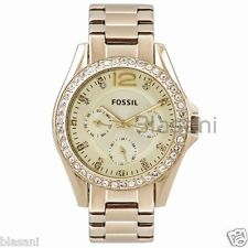 Fossil Original ES3203 Women's Riley Gold Stainless Steel Watch 38mm