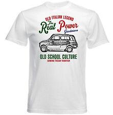VINTAGE italiana di automobili FIAT 500 GIARDINIERA-NUOVO T-shirt di Cotone