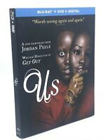 Us (Blu-ray+DVD+Digital, 2019; 2-Disc Set) NEW with Slipcover