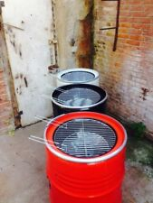 Holzkohlegrill Kugelgrill BBQ Grill Fass Grillfass Design viele Farben in Rot