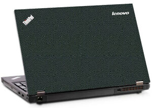 LEATHER Vinyl Lid Skin Cover Decal fits Lenovo Thinkpad W541 Laptop