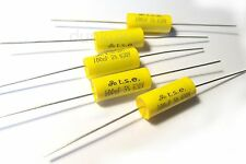 5x Condensatore 0,1 uF 100nF 630V DC POLIPROPILENE assiale VALVOLA IN METALLO VINTAGE UK PELLICOLA