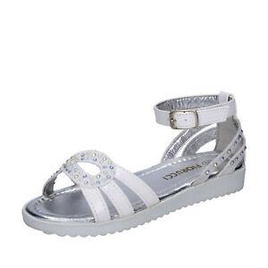 Scarpe bambina FIORUCCI 29 EU sandali bianco pelle sintetica strass BK504-29