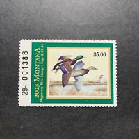 WTDstamps - 2003 MONTANA - State Duck Stamp - Mint OG NH
