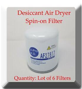(Lot of 6) Brake Air Dryer Filter Fits:Mack, M.A.N. Mercedes Freightliner Volvo