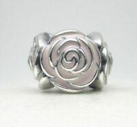 NEW Authentic Pandora Sterling Silver Rose Garden Pink Enamel - 791291EN40