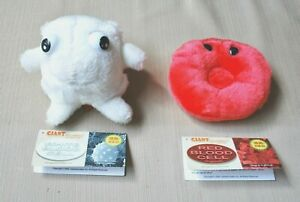 Giant Microbes Red & White Blood Cells Plush Stuff Animal Science Toy Education