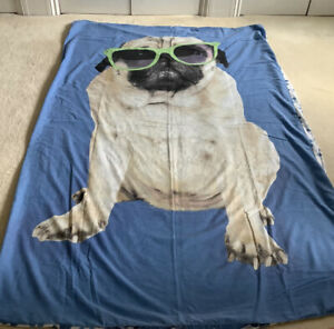 Much Loved Large Image Of A Pug, Single Duvet & Pillow Set
