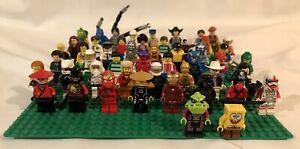 LEGO 50 MINIFIGURE LOT; NINJAGO, IRONMAN, C-3PO, Darth Vader And More