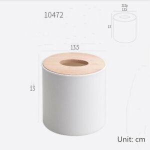 Wooden Cover Plastic Tissue Paper Box Paper Home/Car Phone Holder Dispenser 1pc