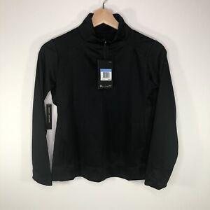 Nike Golf Dri Fit 1/2 Zip Pullover Shirt AJ5288 Black Girl's Medium M