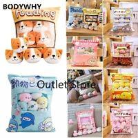 Plushie Bag Toys Mini Animals Doll  Bunny Hamster Bear Cat Pillow Easter Gift