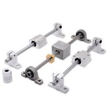 linear shaft+nut housing+couper+KP08 SK8 Lead screw pitch 2mm lead 8mm L-1000mm