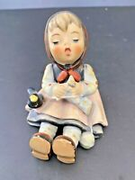 Vintage Hummel Goebel Happy Pastime Singing Girl Birds West Germany #69