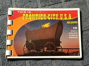 Vintage This is Frontier City USA Oklahoma 10 Full Color Album Prints Booklet